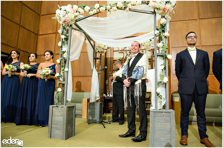 Ohr Shalom Synagogue wedding groom photo.