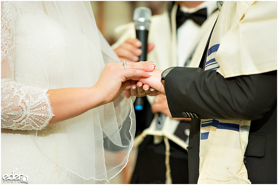 Ohr Shalom Synagogue wedding ring exchange.