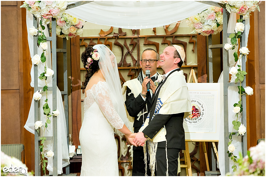 Ohr Shalom Synagogue wedding laughter.