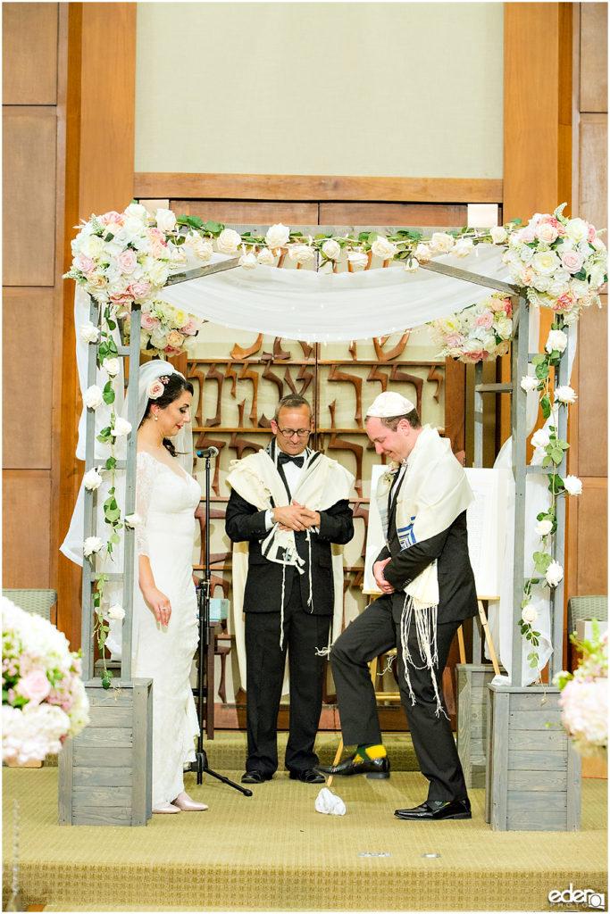 Ohr Shalom Synagogue wedding glass breaking.