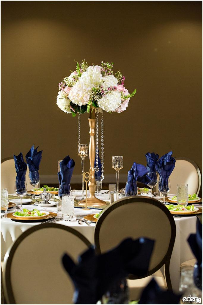 Kona Kai Wedding details table photo.