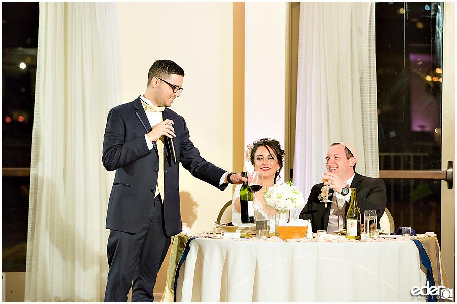 Kona Kai Wedding reception toasts.