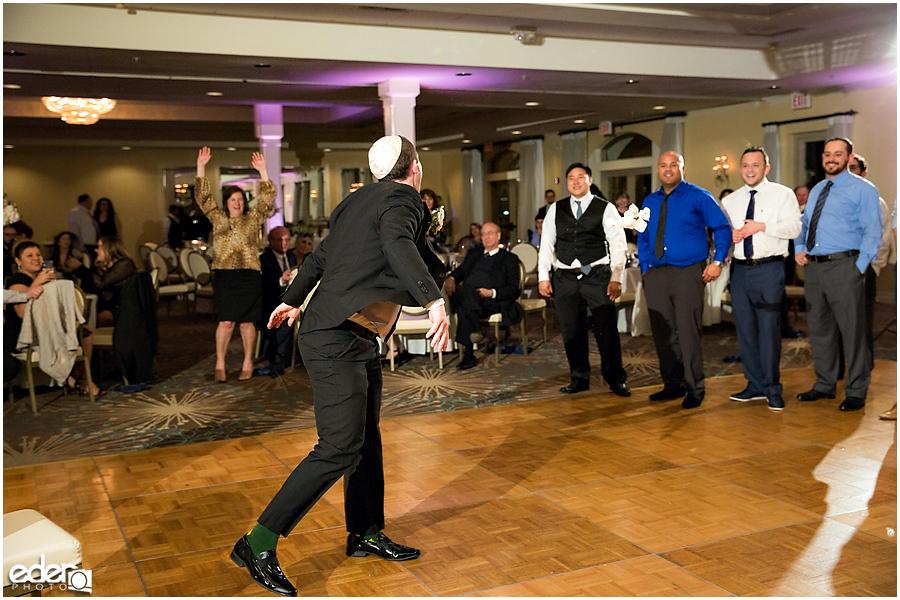 Kona Kai Wedding reception garter toss.