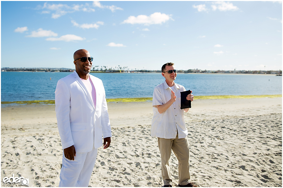 ZLAC Rowing Club Wedding Ceremony groom photo