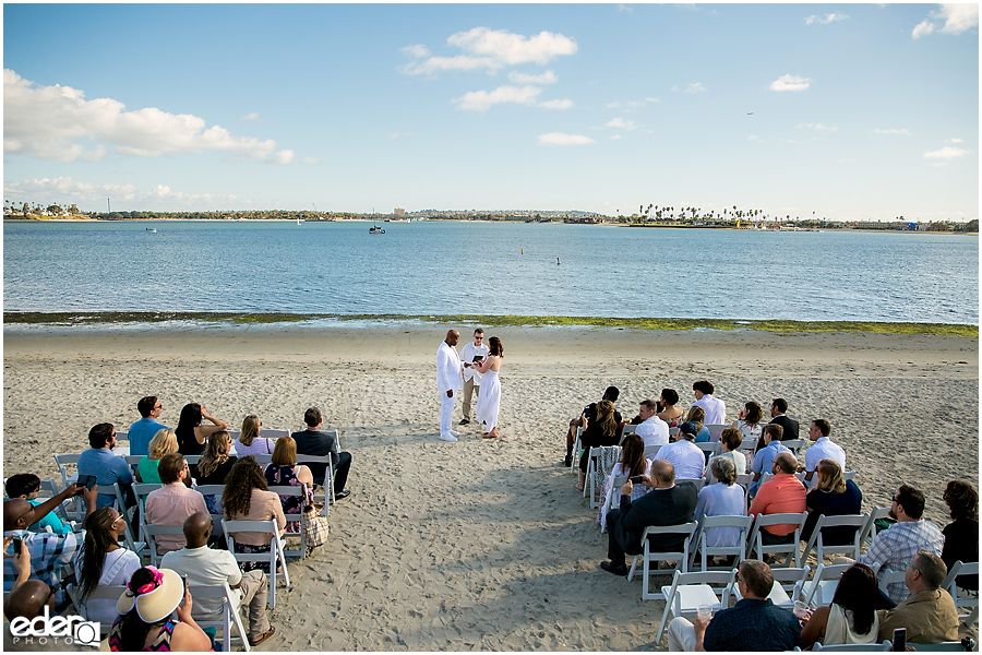 ZLAC Rowing Club Wedding Ceremony wide shot