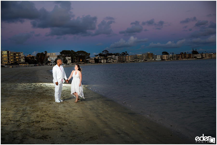 ZLAC Rowing Club Wedding portraits of bride and groom during sunset.