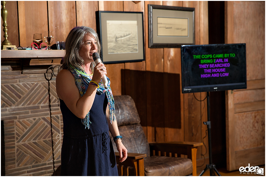 ZLAC Rowing Club Wedding Reception karaoke photos.