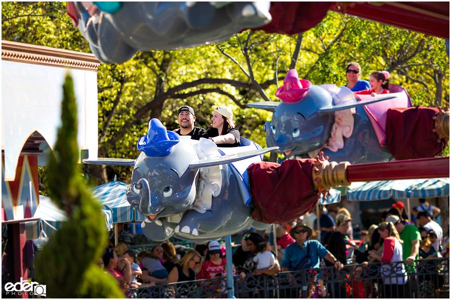 Disneyland Engagement Session on Dumbo Ride.