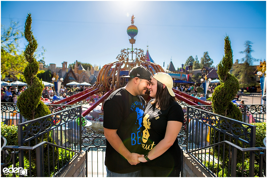 Disneyland Engagement Session on Dumbo Ride.