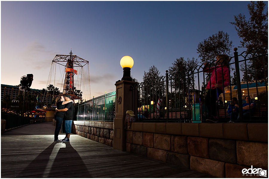 California Adventure Engagement Session at sunset.