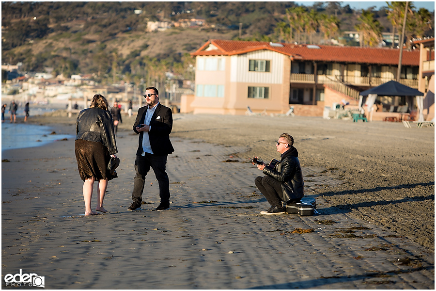 Surprise Marriage Proposal in La Jolla - with musician