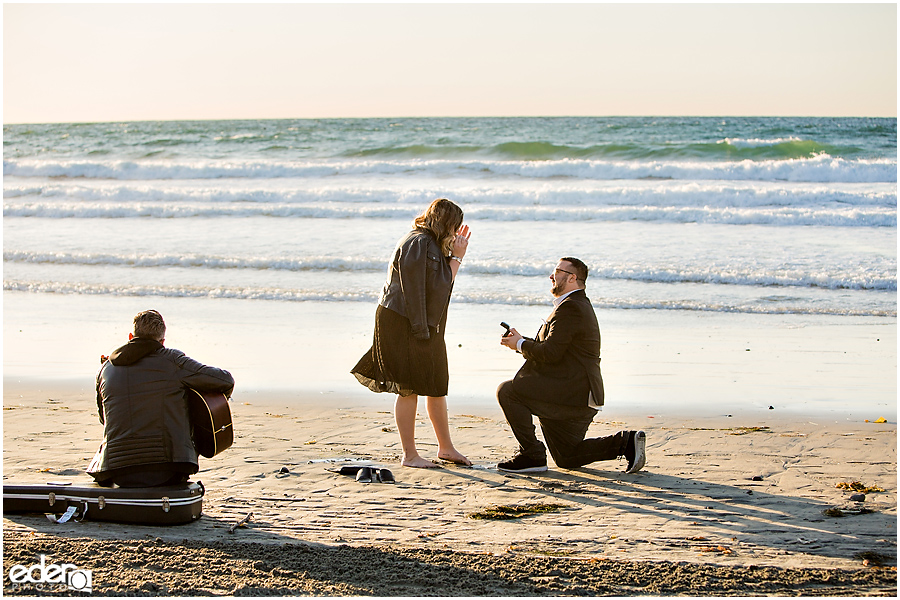 Surprise Marriage Proposal in La Jolla on the beach.