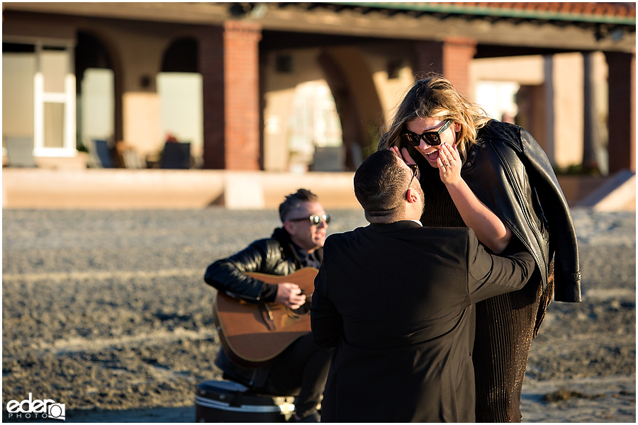 Surprise Marriage Proposal in La Jolla - with guitar player