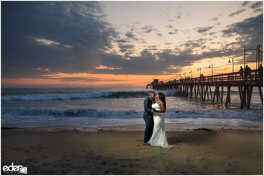 Imperial Beach Pier wedding portraits