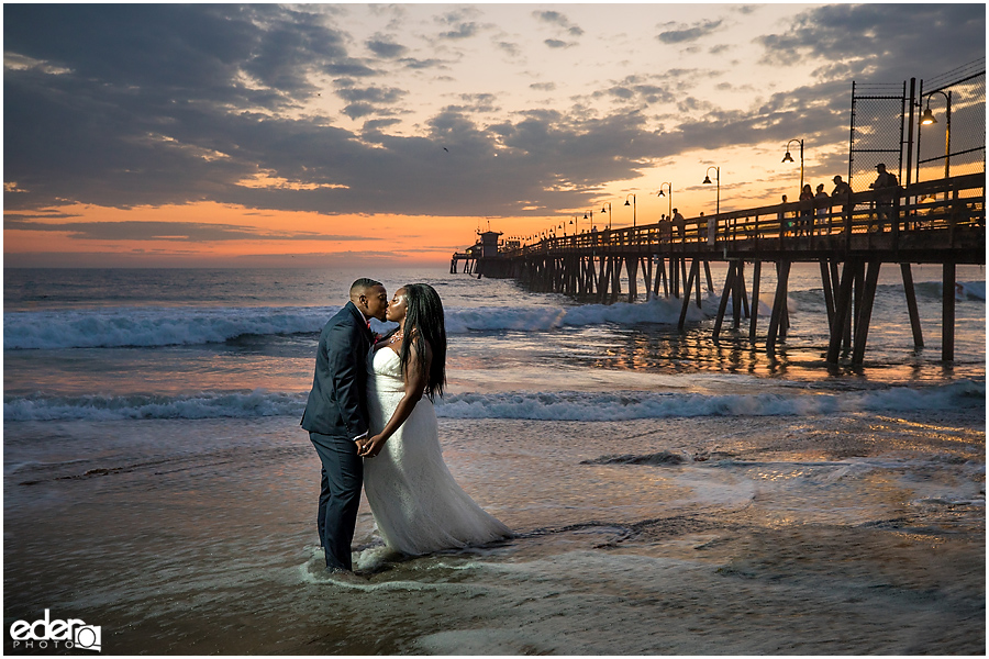 Sunset Beach Wedding Portraits – Imperial Beach, CA