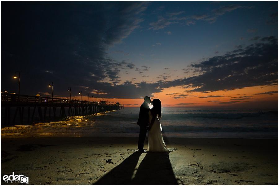 Sunset Beach Wedding Portraits