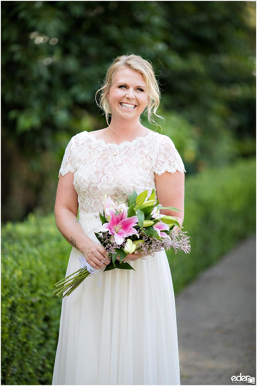 San Diego Elopement portrait of bride