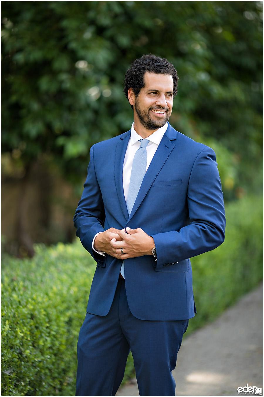 San Diego Elopement portrait of groom.