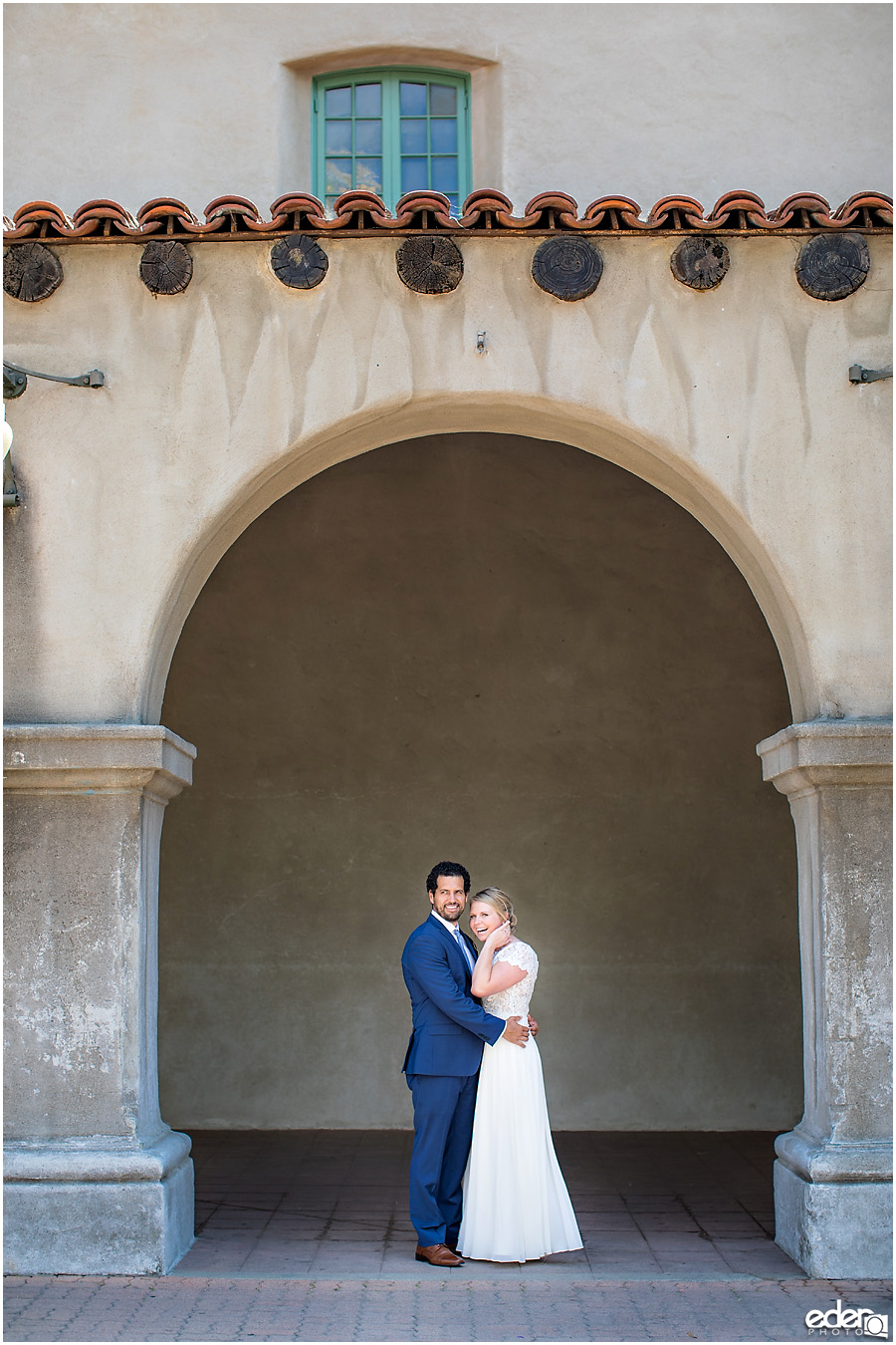 San Diego Elopement couple portrait in Balboa Park.