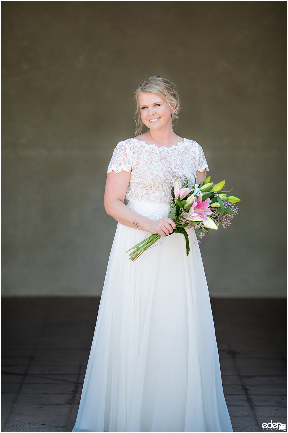 San Diego Elopement bride portrait.
