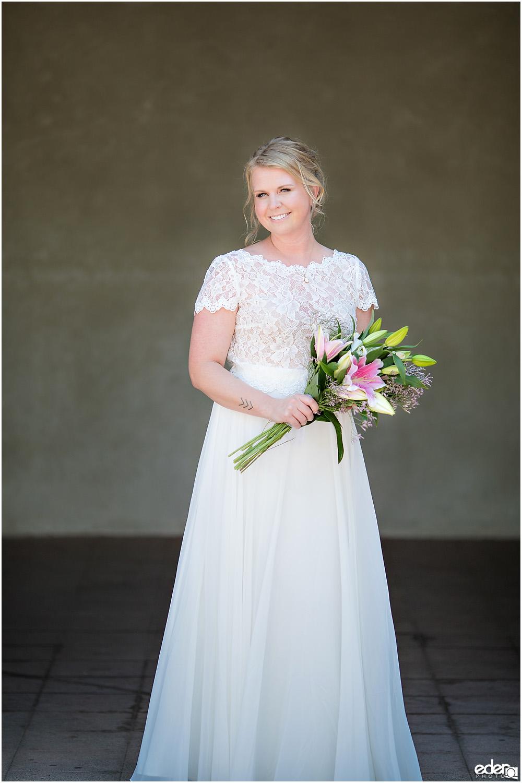 San Diego Elopement bride portrait.