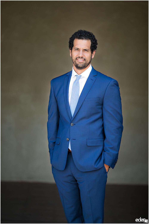 San Diego Elopement groom portrait.