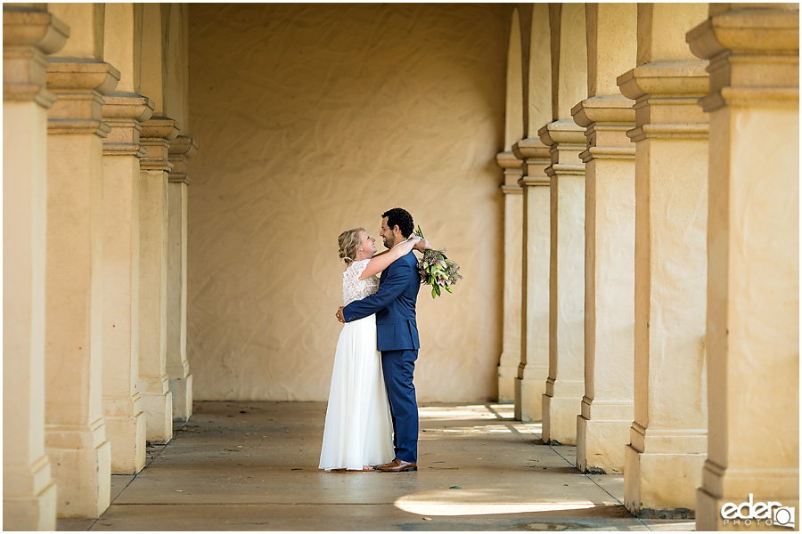 San Diego Elopement photography at Balboa Park