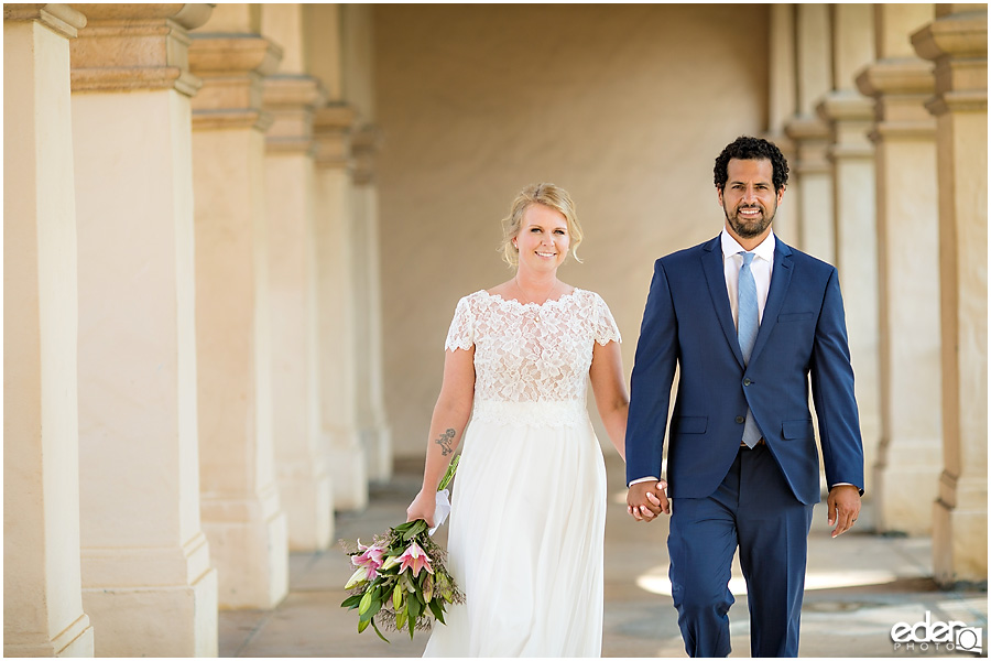 San Diego Elopement photography at Balboa Park.