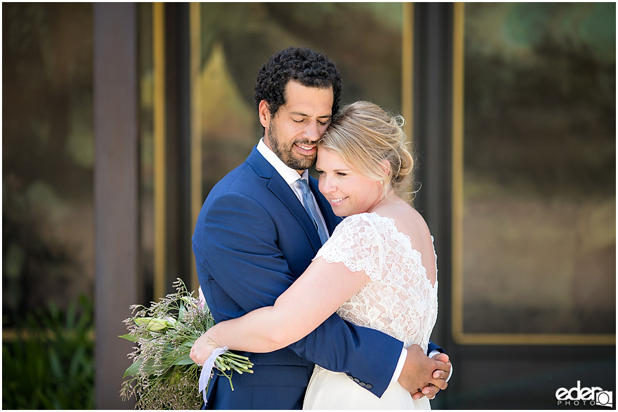 San Diego Elopement photography at Balboa Park Timken Museum.