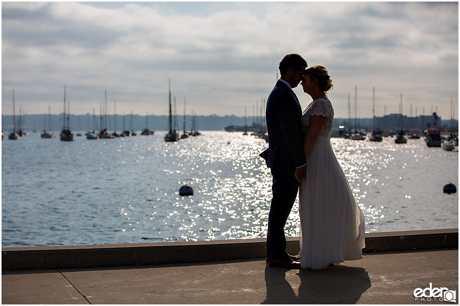 San Diego Elopement photography at the bay.