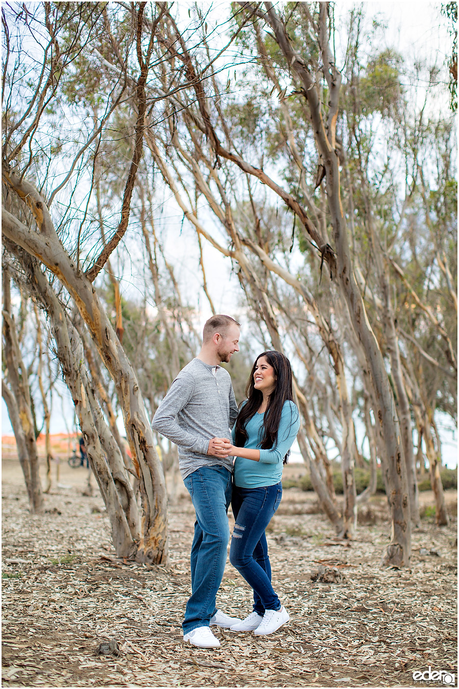 Engagement Session Portraits at Sunset Cliffs in San Diego, CA.