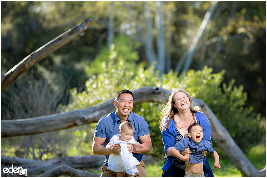 Spring Mini Portrait Session - family playing.
