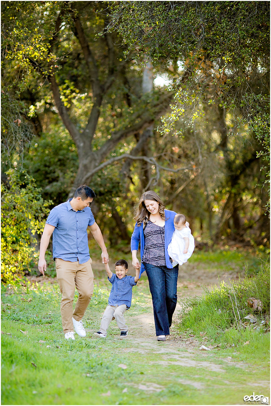 Spring Mini Portrait Session - walking in the hiking trail.