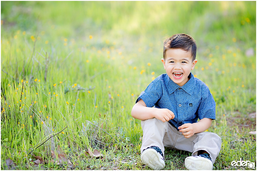 Spring Mini Portrait Session - portrait of son.